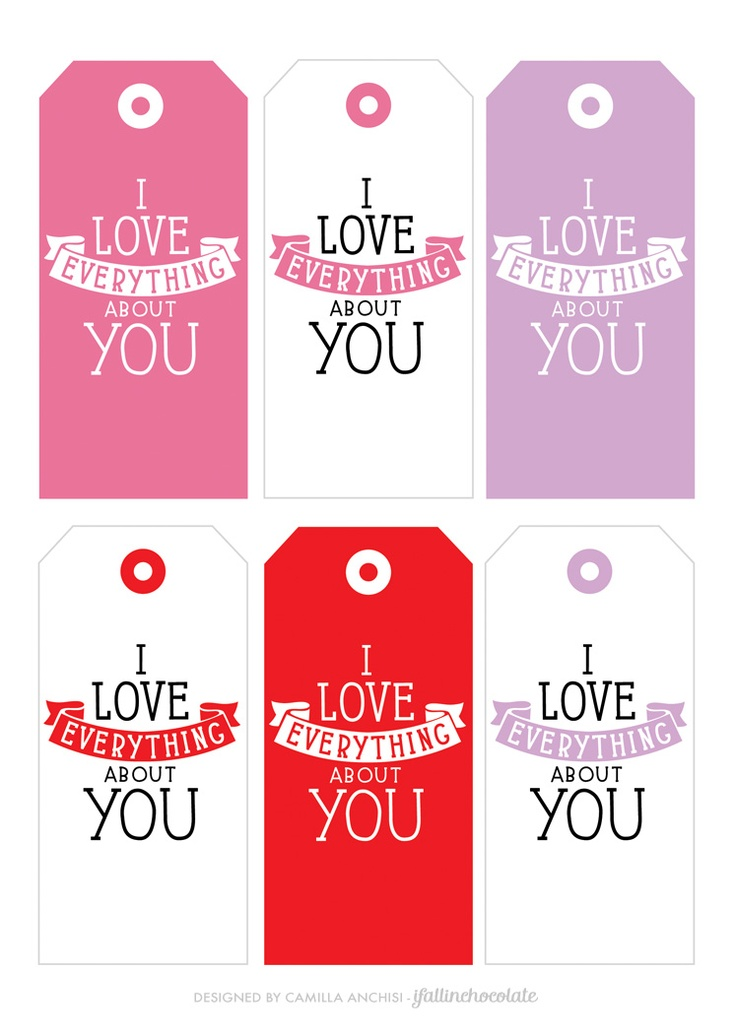 """Valentine Tags by Camilla Anchisi  for """"I Fall in Chocolate"""""""