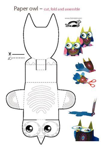 Divertida Caja con Forma de Búho para Imprimir Gratis.