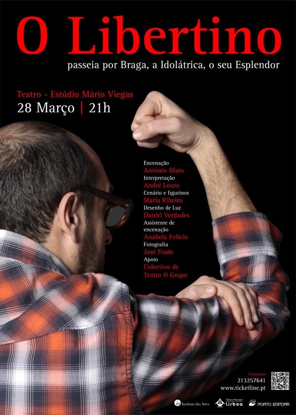 O Libertino   Poster by Rui Sousa, via Behance