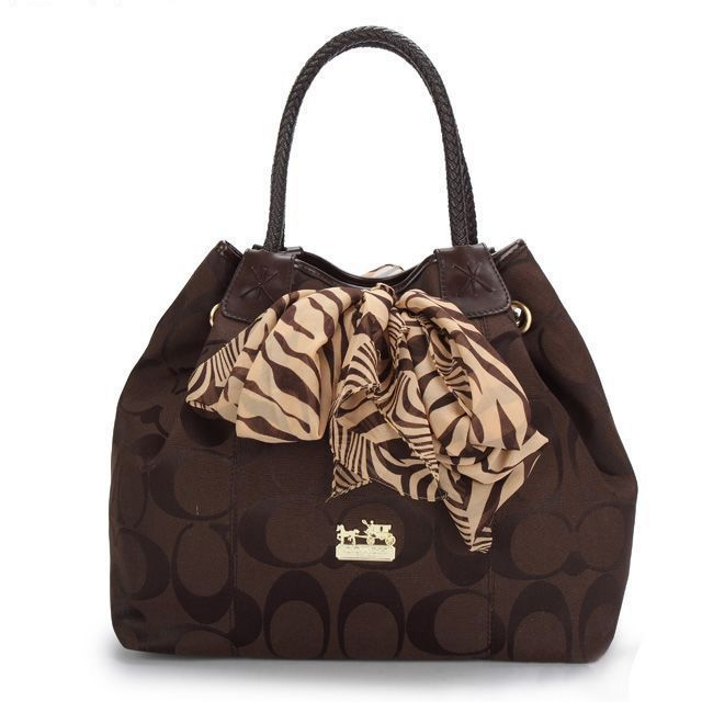 Coach North South Scarf Large Coffee Totes ATS Give You The Best