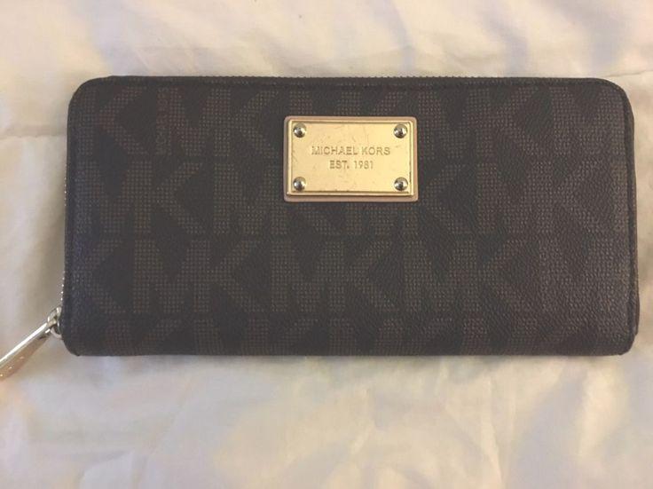 NWOT Women's MICHAEL Michael Kors Jet set travel zip around continental wallet    eBay