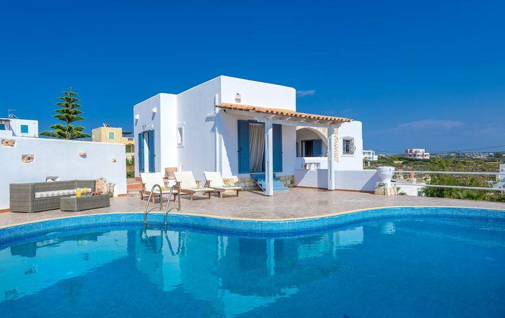 Holiday Villa in Chania, Crete - Cozy villa Irida with a perfect sea view