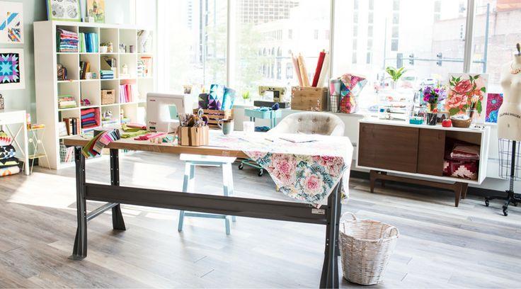 What's your dream quilt studio? Beautiful crafting spaces. #dreamstudio