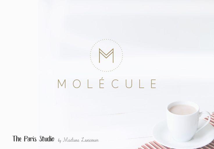 Geometric Monogram Logo Design for e-commerce website logo, blog logo, boutique logo, restaurant logo, creative business branding or small business logo.