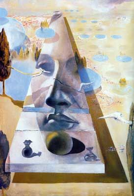 Salvador Dali, Apparition of the Visage of Aphrodite Fine Art Reproduction Oil Painting