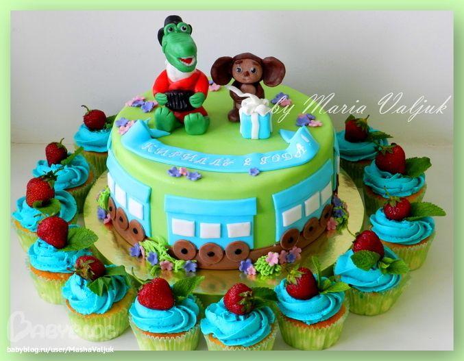Торт крокодил гена чебурашка