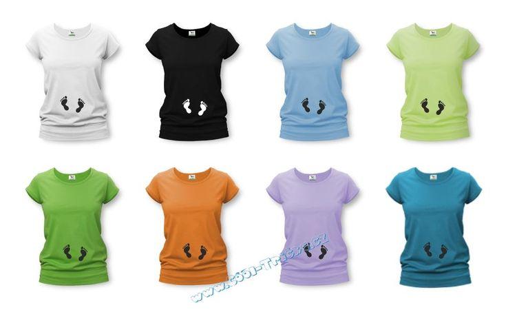 TĚHOTENSKÁ TRIČKA | Nožičky | Těhotenské tričko s potiskem NOŽIČKY - tmavý tyrkys | Trička s potiskem a výšivkou - dámské, pánské, těhotenské