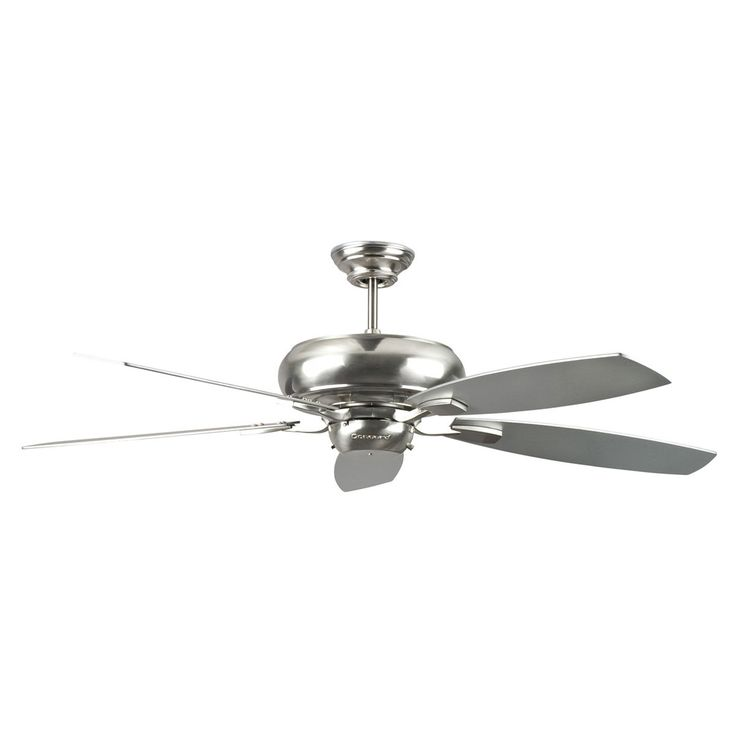"Concord Fans Contemporary 60"" Roosevelt Stainless Steel Large Ceiling Fan"