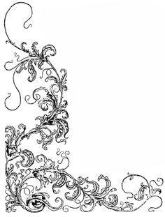 Image result for vintage flower design border