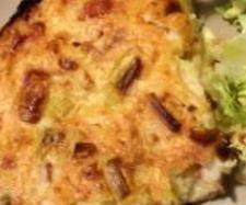 Recette Quiche sans pate, poireaux-chèvre - recette de la catégorie Tartes et tourtes salées, pizzas