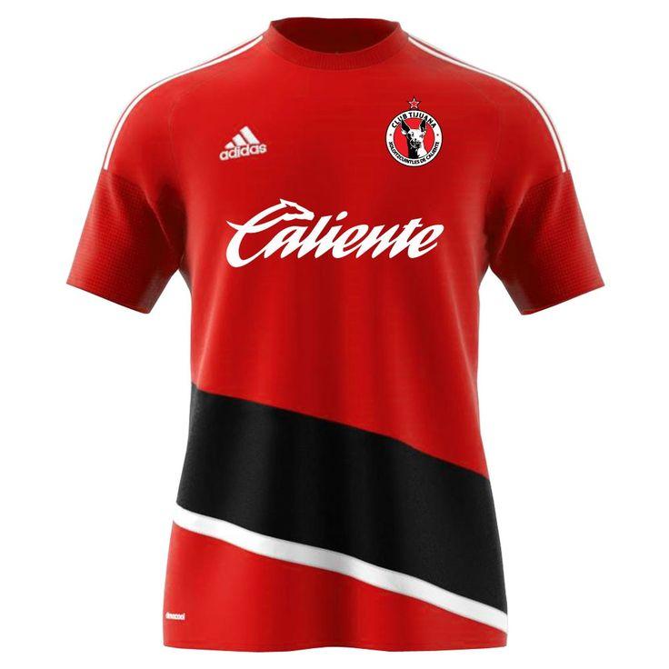 adidas Club Tijuana Xolos Regista 16 Training Jersey - Power Red/White/Black