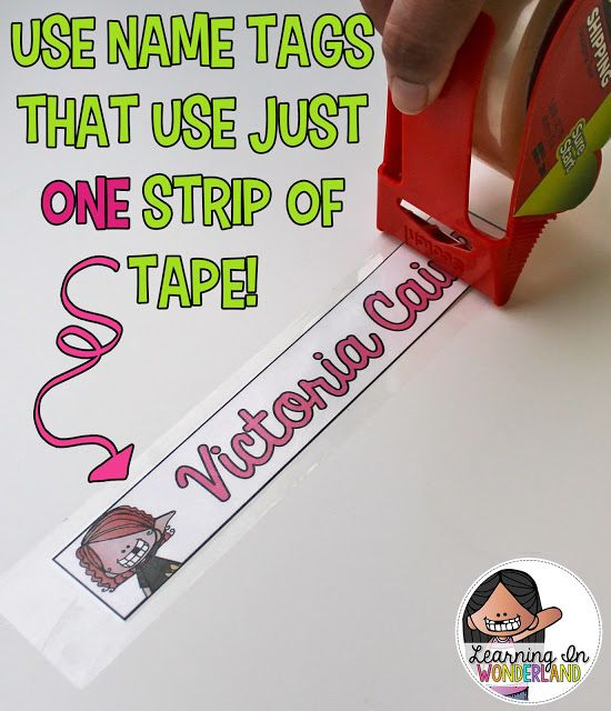 Save time with these name tags that use just ONE strip of tape!