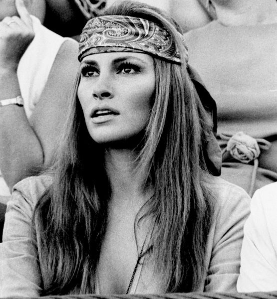 Raqual Welch rocking the bandana. http://glo.msn.com/beauty/wishful-thinking-7652.gallery?photoId=75496