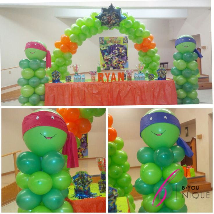 Our ninja turtle balloon decor set up ninjaturtles tmnt for Tmnt decorations