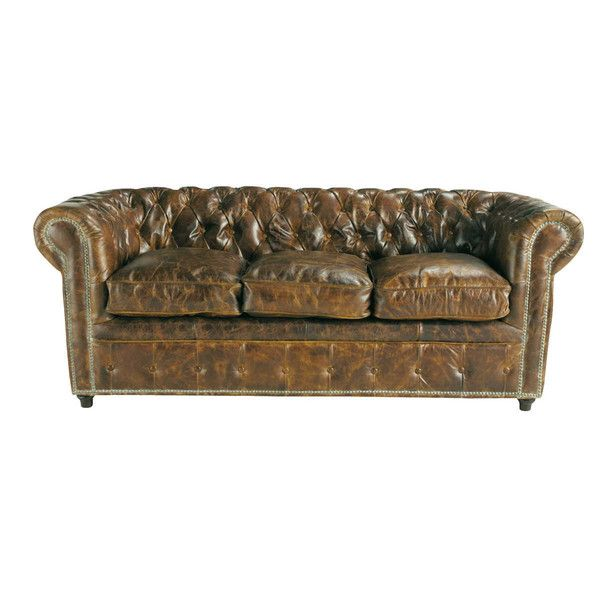 Maison du monde - Vintage brown leather sofa ... - Vintage