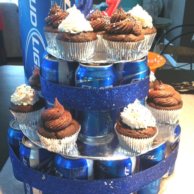 Beer Cupcake Cake For 21st Birthday Food Pinterest
