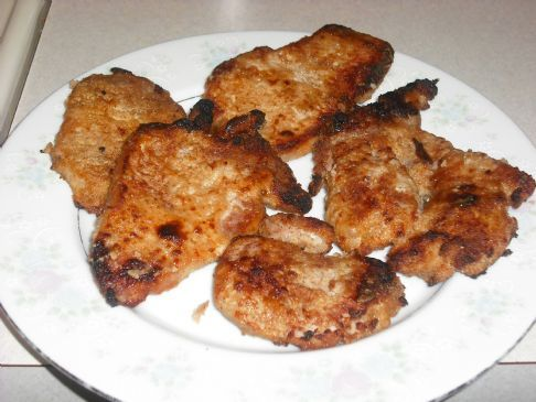 Made these and they were great ... I seasoned the pork chops with canadian steak seasoning, then added seasoned salt, garlic to the bread crumbs and pepper.