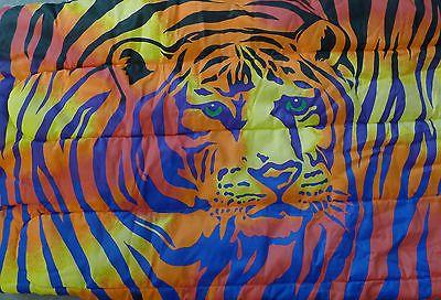 Lisa Frank Tiger Teen Sleeping Slumber Bag 1986 RARE Vintage Colorful Stripes