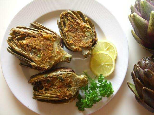 Tasting Sicily: SICILIAN STYLE STUFFED ARTICHOKES RECIPE