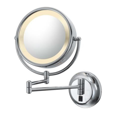 Aptations Chrome Hardwired Swing Arm Lighted Vanity Mirror These Will Be Great In Our Bathroom