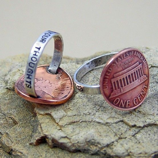 Penny For Your Thoughts Ring - Click image to find more DIY & Crafts Pinterest pins