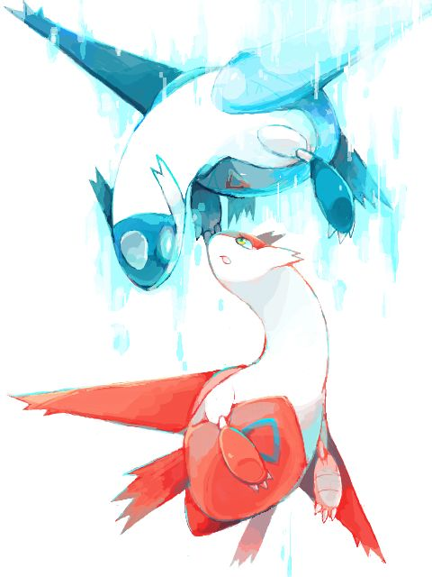 Latios & Latias  Awww...Imma go cry now...  Watch Pokemon Hero's and you'll understand...