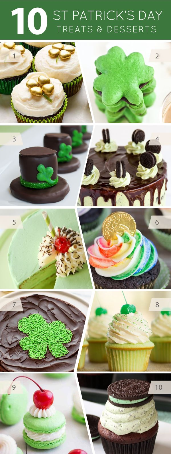 10 St. Patrick's Day Treats and Desserts | on TheCakeBlog.com