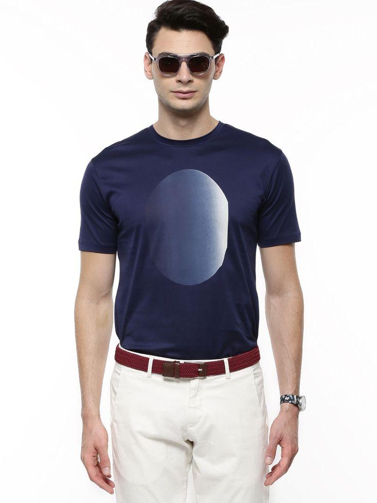 RARE RABBIT Eclipse Crew Neck T-Shirt In Regular Fit - Buy Men's Tee Shirts online in India | KOOVS