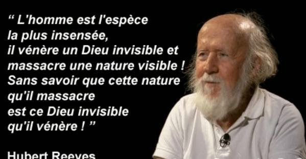 Rosaelle: Dieu et la Nature: citation attribuée et vraie citation d'Hubert Reeves