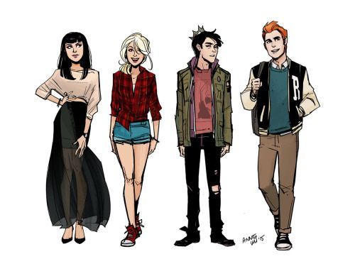 """anniewu: """"Found a character thing I did before working on Archie #4 last year, seeing how I'd work with the new take by Mark Waid and Fiona Staples. """""""