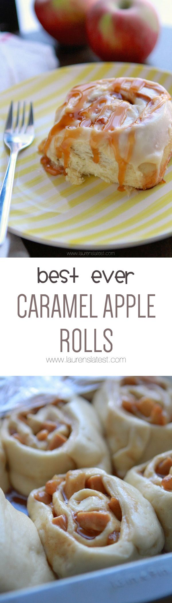 Best Ever Caramel Apple Rolls