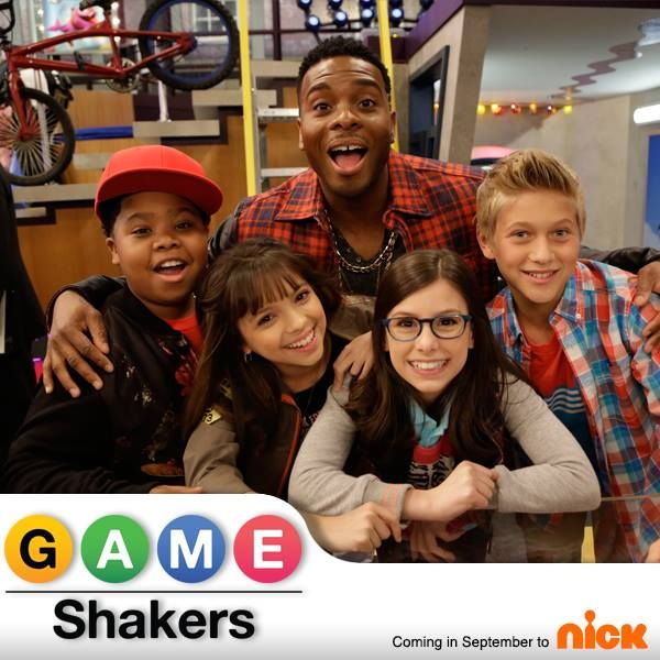 "On set with the Cast of Nickelodeon's ""Game Shakers"" Premiering Saturday, Sept…"