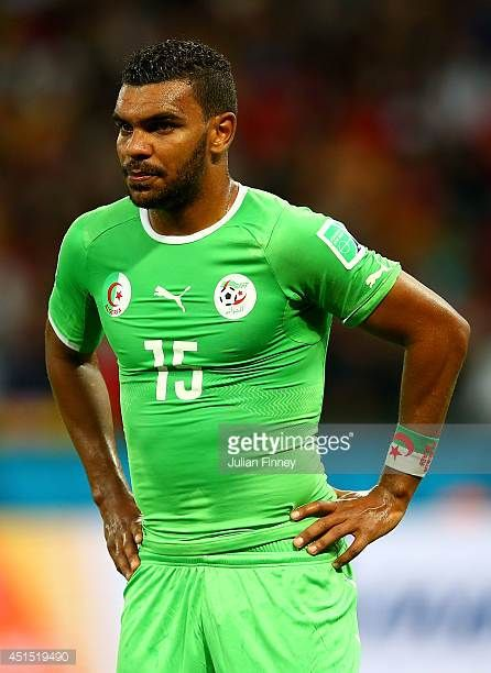 El Arbi Hillel Soudani of Algeria looks on during the 2014 FIFA World Cup Brazil Round of 16 match between Germany and Algeria at Estadio BeiraRio on...