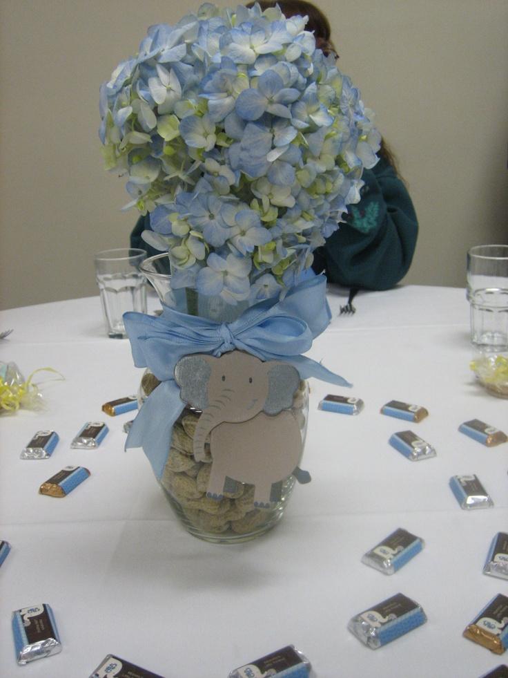 Elephant vases for baby shower sweet little
