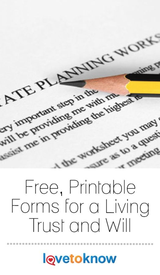 Although it's an uncomfortable topic, death is a fact of life. Consequently, it's important to get your affairs in order. This means executing a will or revocable living trust. Not only do these documents allow you to dictate who will receive your estate at your death, but it gives your family peace of mind, knowing that they are carrying out your final wishes.   Free, Printable Forms for a Living Trust and Will from #LoveToKnow