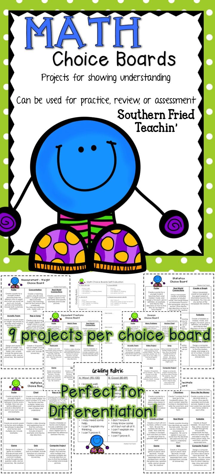 Best 20 choice boards ideas on pinterest differentiated math choice boards robcynllc Image collections