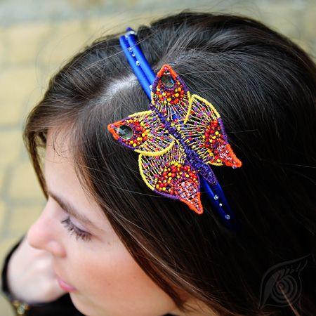 Butterfly on hair; nycrame, by Nady; photo by Monika Hulova