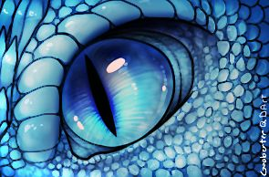 I think this Saphira eye is prettier than the one in the books. But that's just me. :)