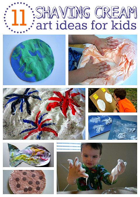 10 ways to use shaving cream with art and sensory activities for preschool.