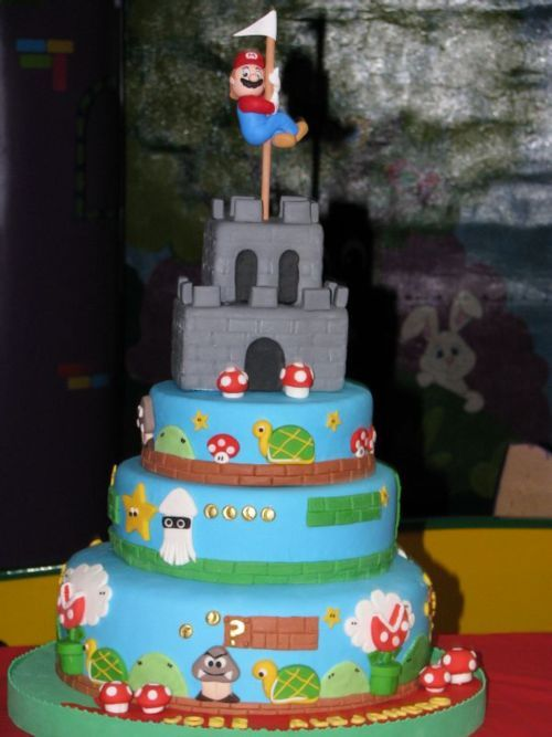 super mario bros wedding cake wedding cake and other geeky cakes pics 20626