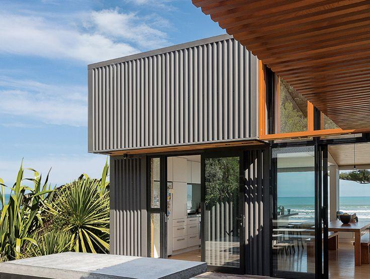 Dimond V-Rib  - ColorCote AlumiGard in Black - Makoriri Beach House - Location: Gisborne
