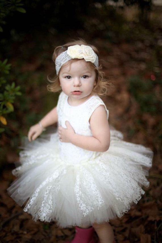 Tutu Skirt Ivory Girls Wedding Birthday Photo Prop Please Visit My Shop For More Adorable Dresses