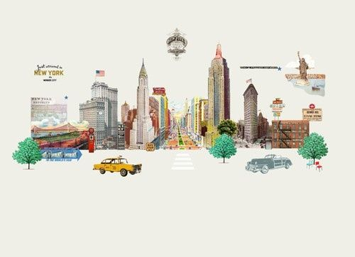 """""""New York City"""" Room 7 Travel Memories Collection at LAVTHEM.cz"""