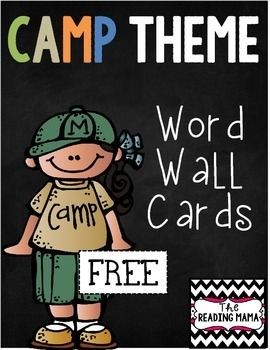 This FREEBIE includes 28 camping theme word cards! They are the perfect size for a pocket chart or on a ring in a center.If you love this item, make sure to check out my Camp Learn-a-Lot bundle in my store! Camp Learn-A-Lot: