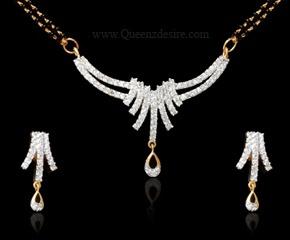 casual lool American Diamond Necklaces