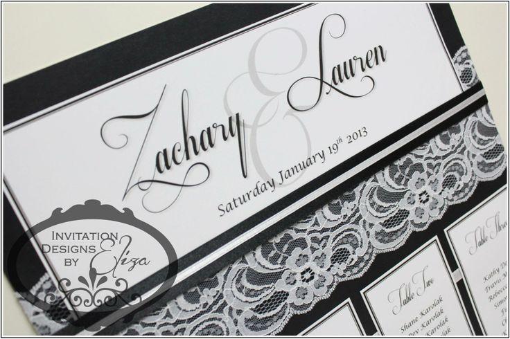 Seating Plan Design {Wedding} Black & White Theme www.facebook.com/InvitationDesignsByEliza