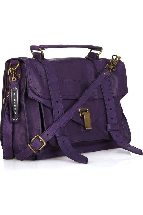 Bag lust. PROENZA SCHOULER PS1 Medium leather satchel. Only $1595