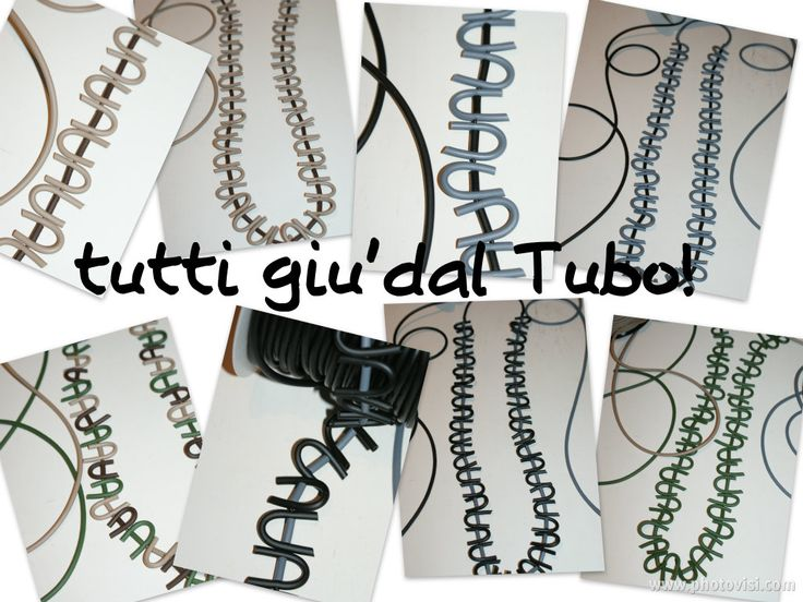 long #necklaces in pvc #jewellery #bigiotteria #collane #bijoux  isaboobijoux.blogspot.it