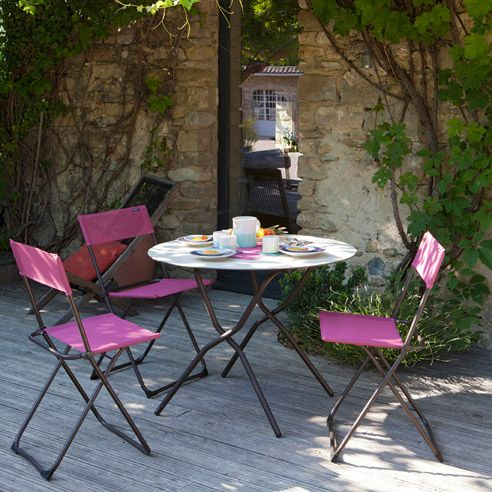 24 best lafuma images on pinterest recliners outdoor chairs and terrace - Chaise pliante en toile ...