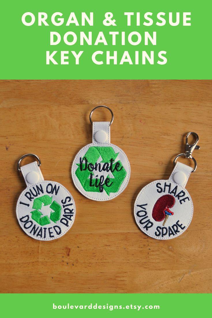 Organ Donation, Organ Transplant Keychain, Key Fob